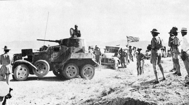 גדוד אספקה בריטי מלווה בכוחות  צבא ממונעים, הפלישה לאיראן, 1941