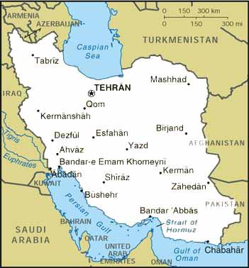 מפת ערים בפרס/איראן. מקור: ראה Jewish Virtual Library https://www.jewishvirtuallibrary.org/national-maps-of-the-arab-muslim-world